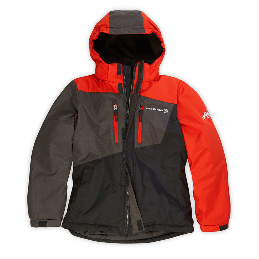 FREE COUNTRY Boys' Boomer Snowboard Jacket - ORANGE