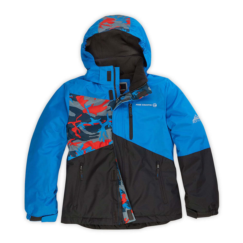 FREE COUNTRY Boys' Stellar Snowboard Jacket - BRIGHT BLUE