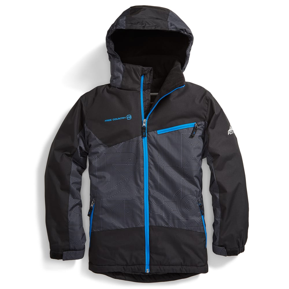 FREE COUNTRY Boys' Tron Snowboard Jacket - BLACK