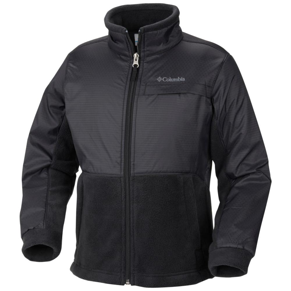 COLUMBIA Boys' Steens Mountain Overlay Fleece - FRONDS BLACK