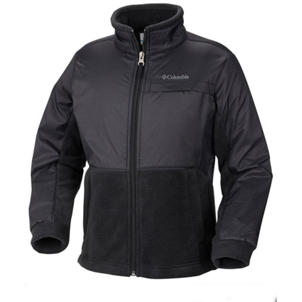 COLUMBIA Boys' Steens Mountain Overlay Fleece - 010-BLACK