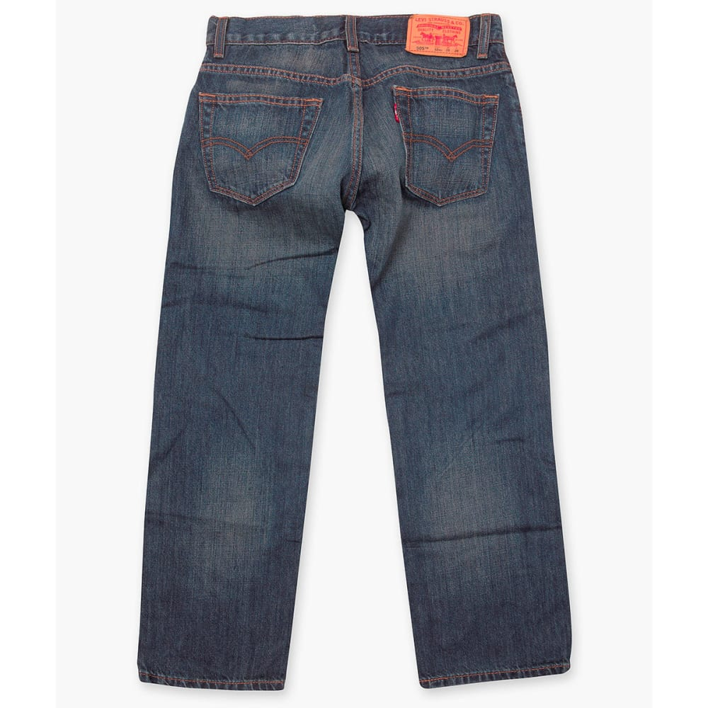 LEVI'S Big Boys' 505 Husky Straight Fit Jeans - ROADIE-778