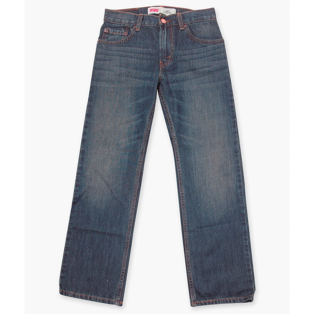 LEVI'S Big Boys' 505 Husky Straight Fit Jeans 10
