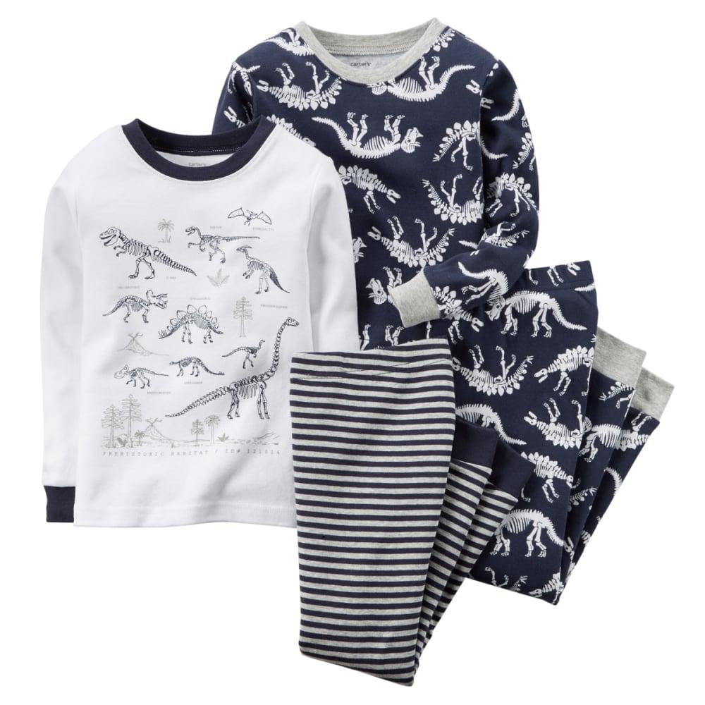 CARTER'S Boys' Dinosaur Bones 4-Piece Pajamas Set - TEAL
