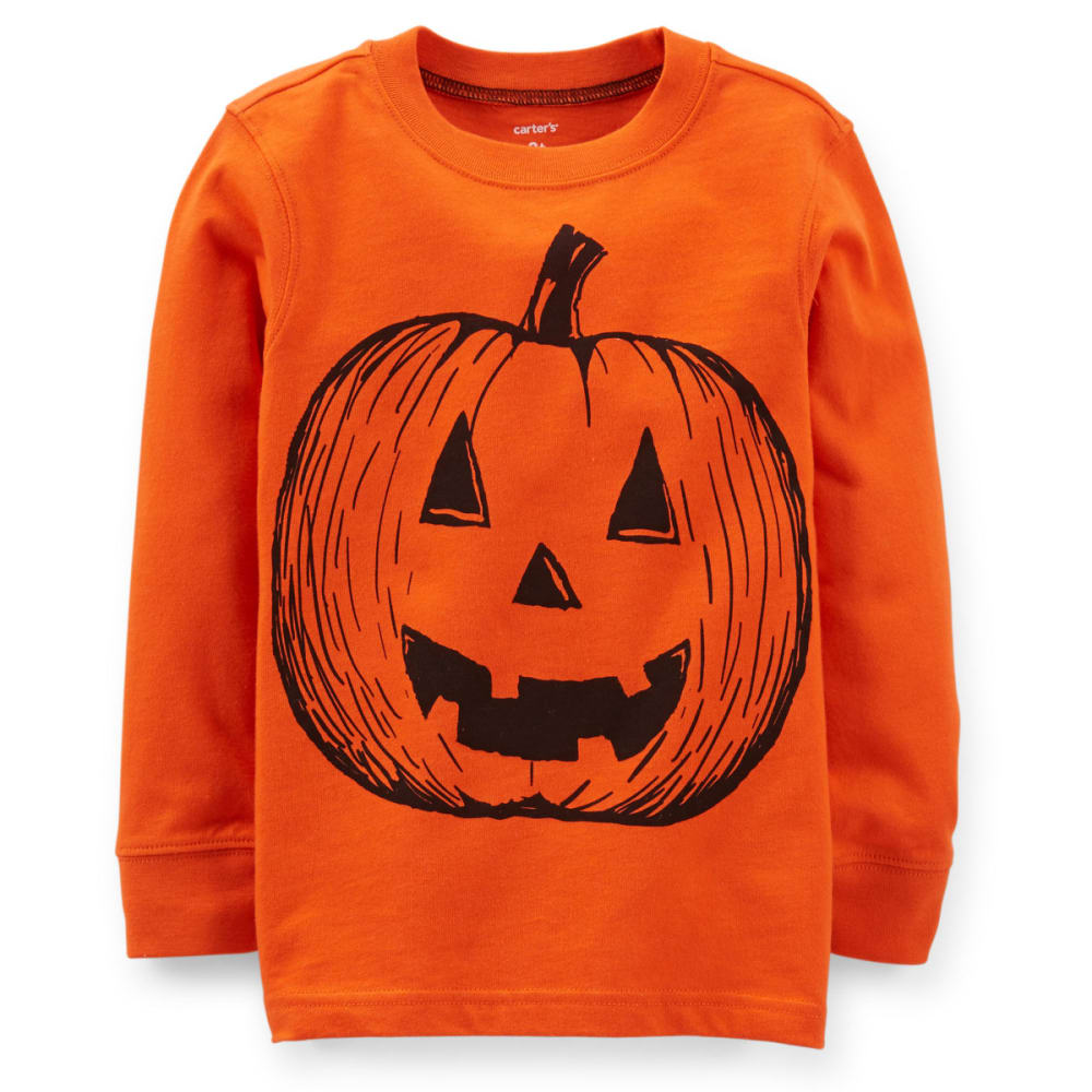 CARTER'S Boys' Halloween Pumpkin Tee - BOLT ORANGE