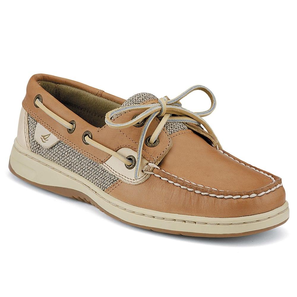 SPERRY Women's Bluefish 2-Eye Boat Shoes - LINEN OAT