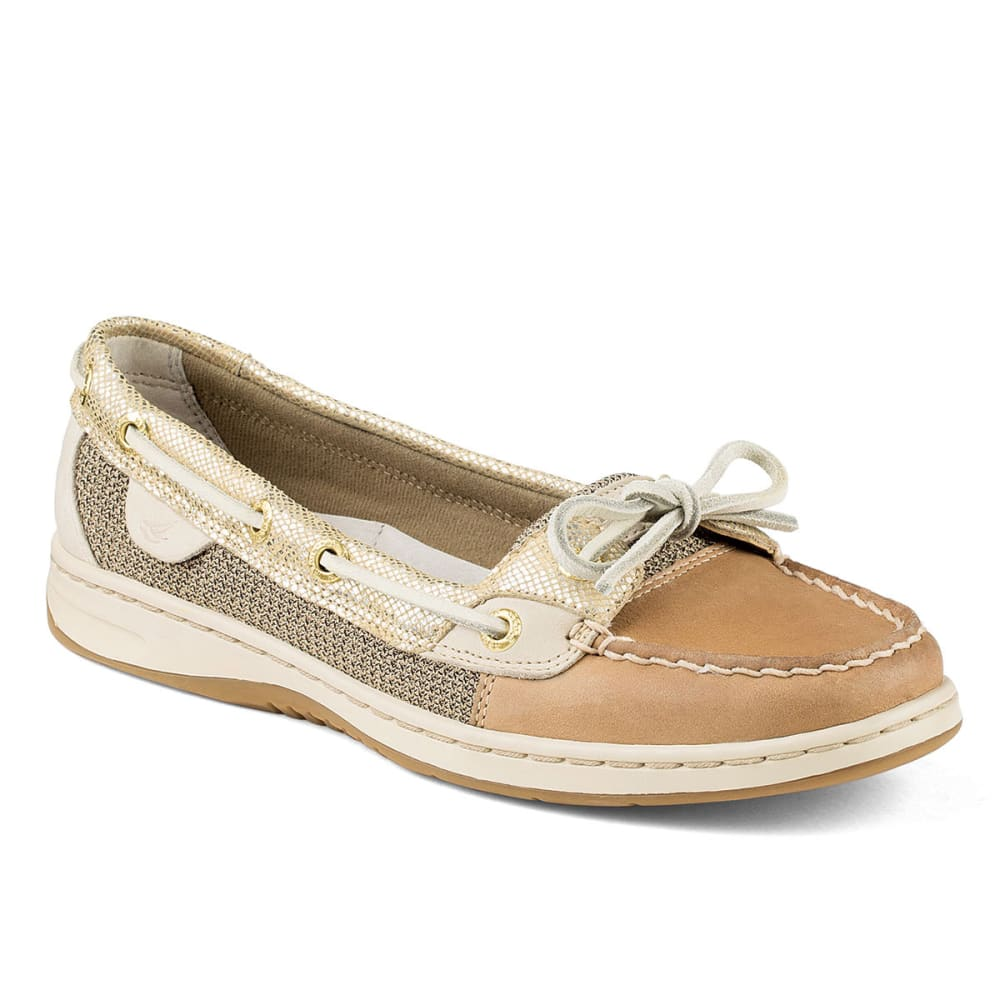 SPERRY Women's Angelfish Slip-On Boat Shoes - LINEN OAT