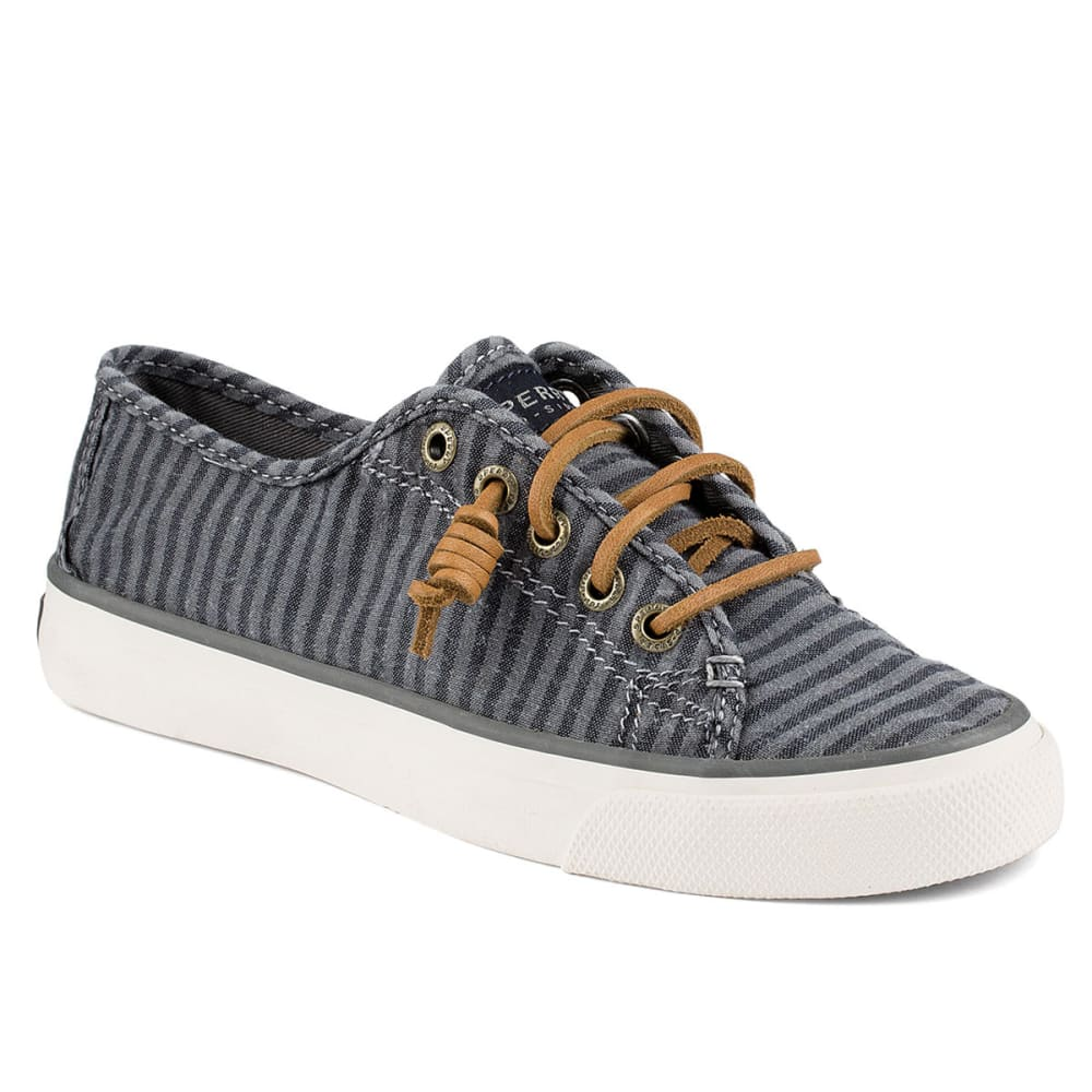 SPERRY Women's Seacoast Canvas Sneakers - CHARCOAL