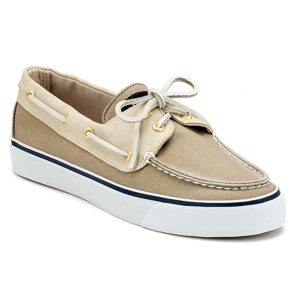 SPERRY Women's Bahama Canvas Two-Eye Boat Shoes - STONE