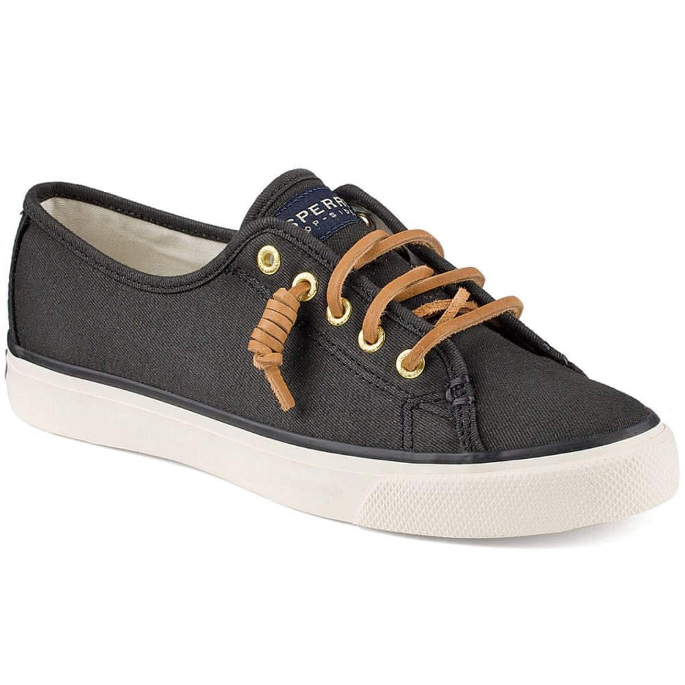 SPERRY Women's Seacoast Canvas Sneakers - BLACK