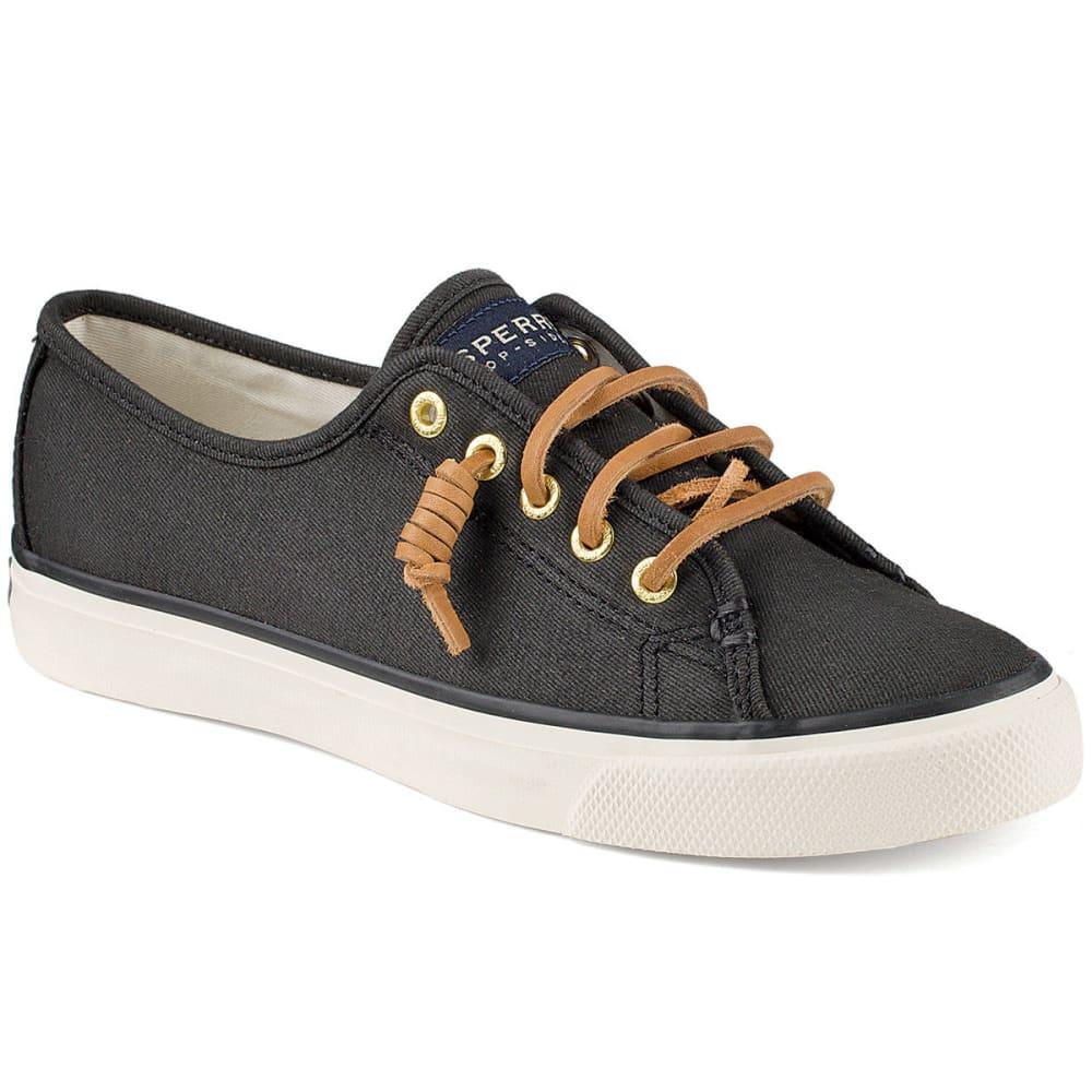 SPERRY Women's Seacoast Canvas Sneakers - BLACK