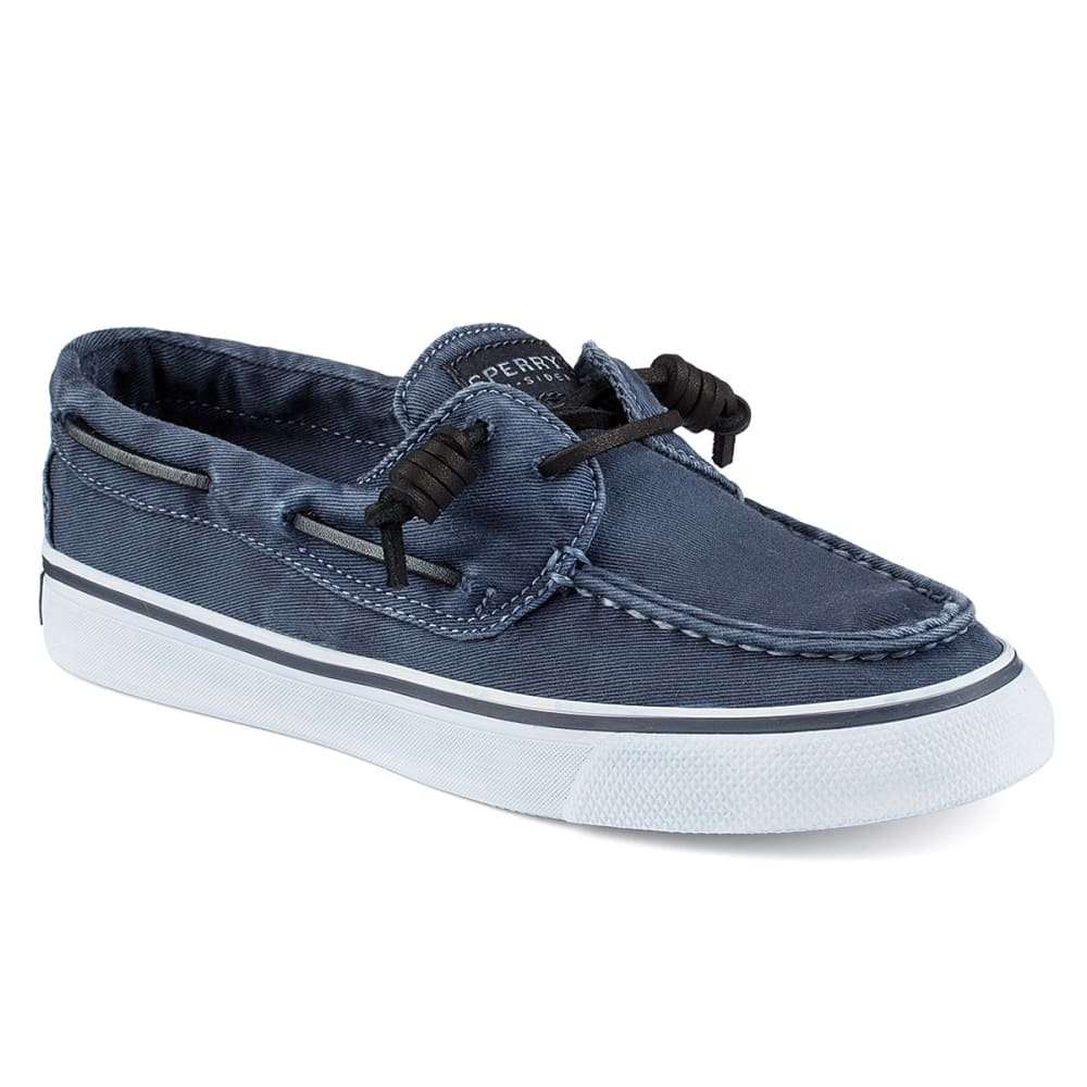 SPERRY Women's Bahama Washed Canvas Two-Eye Boat Shoes - NAVY