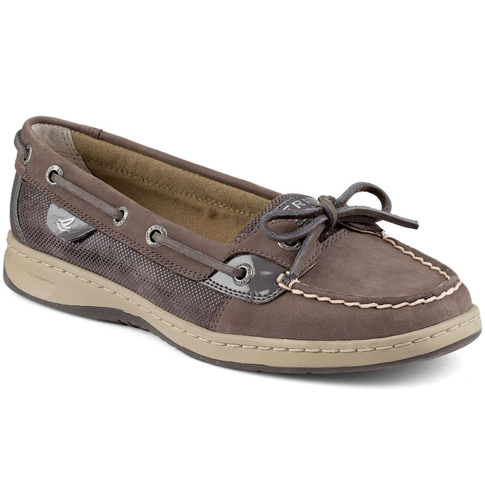 SPERRY Women's Angelfish Slip-On Boat Shoes - GRAPHITE