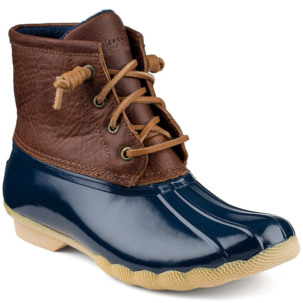 SPERRY Women's Saltwater Duck Boots - TAN/NAVY