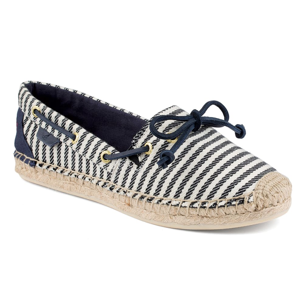 SPERRY Women's Katama Breton Stripe Espadrilles - NAVY