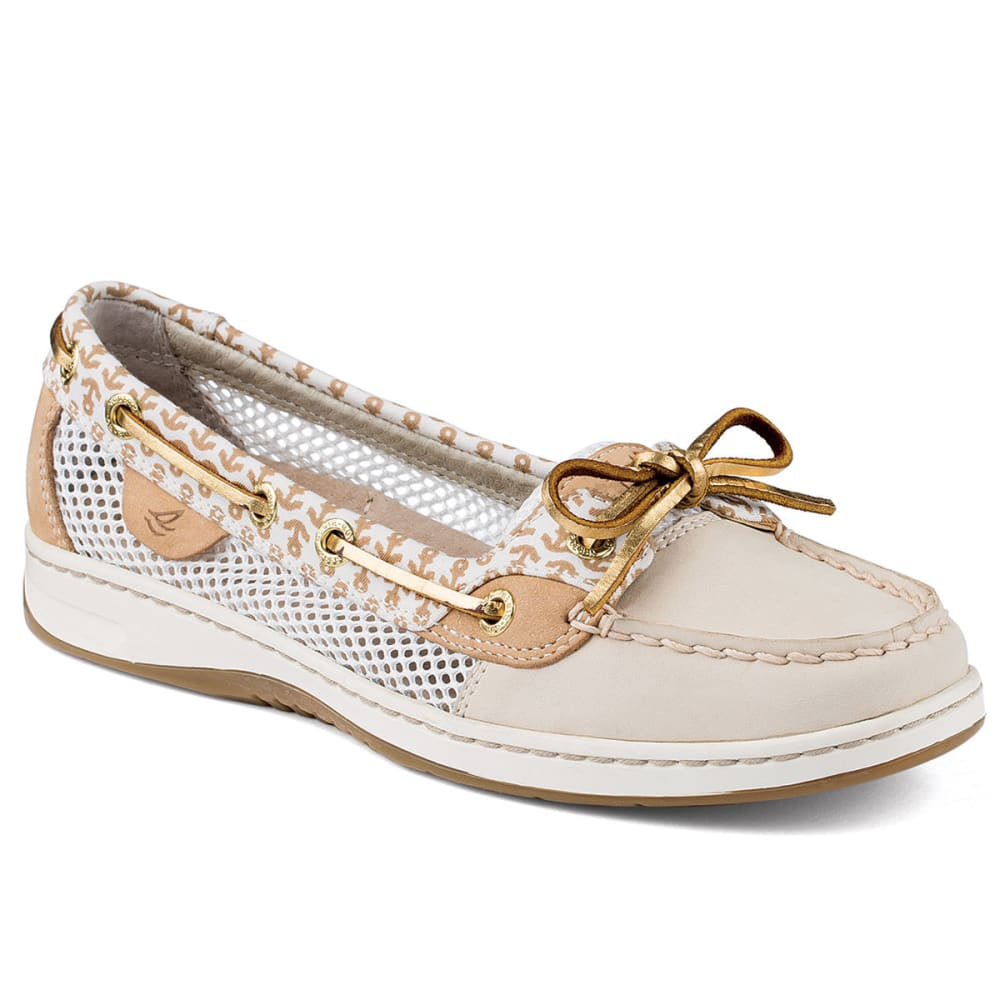 SPERRY Women's Angelfish Anchor Print Slip-On Boat Shoes - IVORY