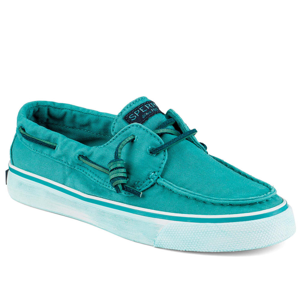 SPERRY Women's Bahama Washed Canvas Sneakers - TEAL