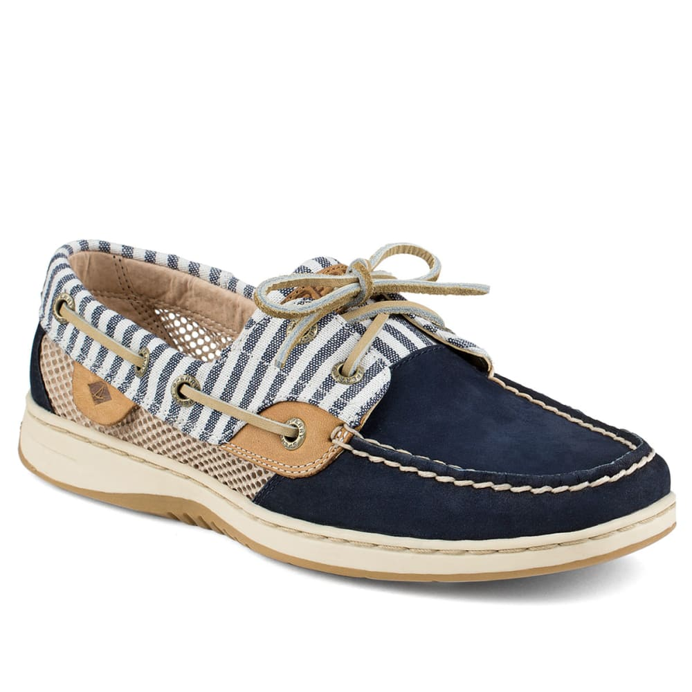 SPERRY Women's Bluefish Stripe Open Mesh Boat Shoe - NAVY STRIPE