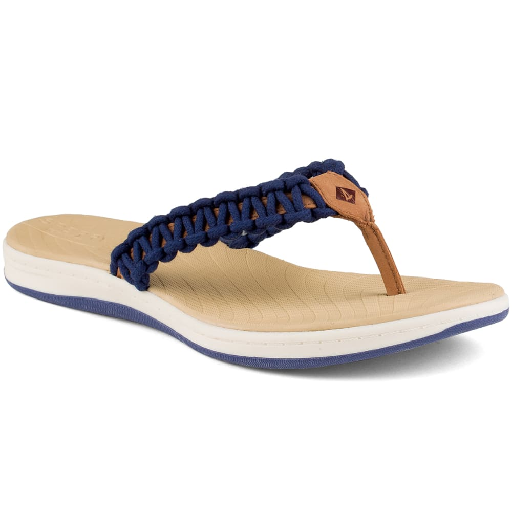 SPERRY Women's Seabrook Current Flip Flops - NAVY