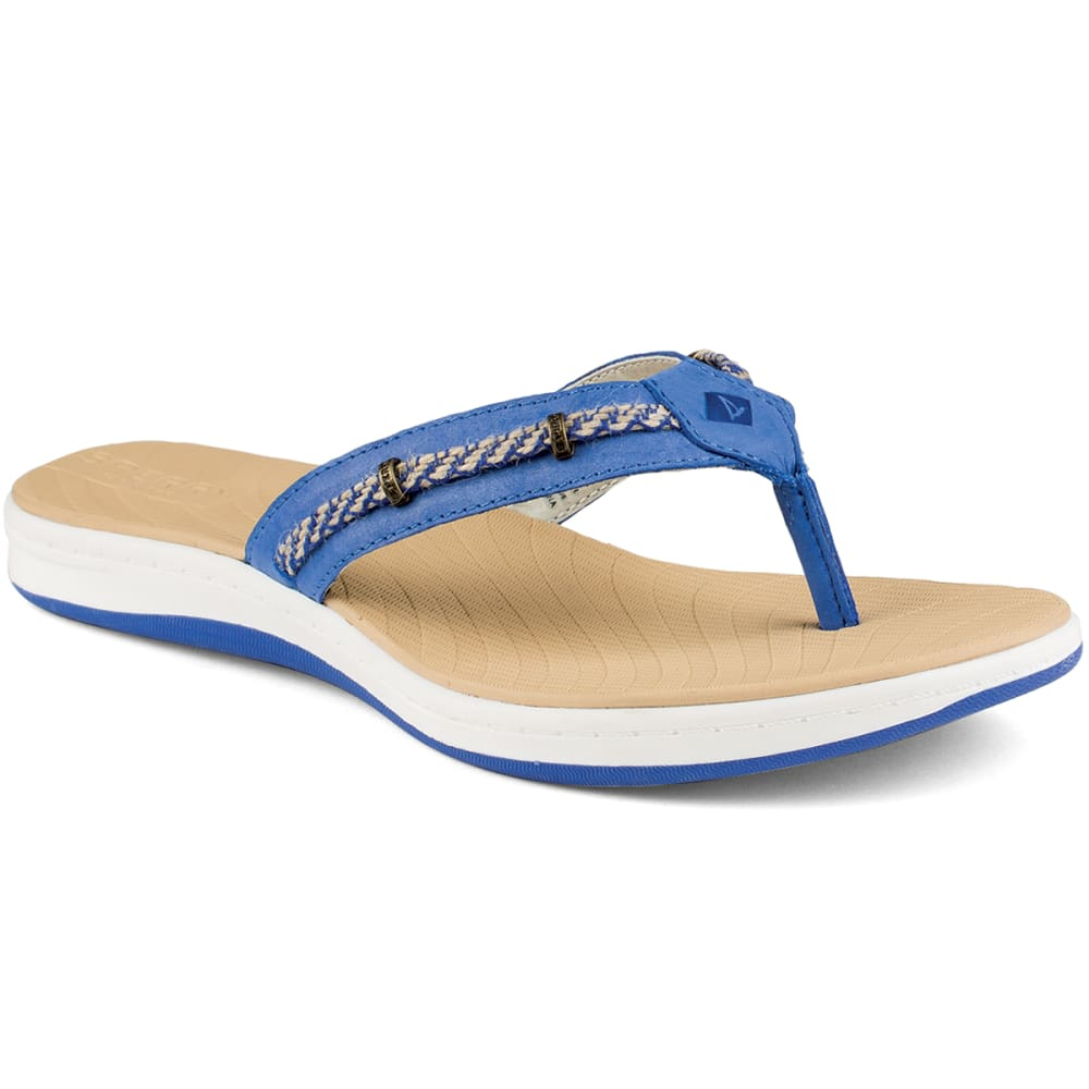 SPERRY Women's Seabrook Wave Flip Flops - BALTIC BLUE