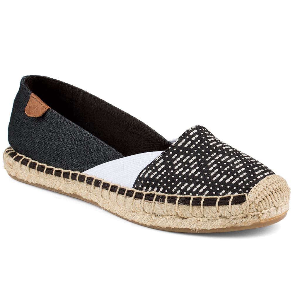 SPERRY Women's Cape Tribal Print Espadrilles - BLK/WHT