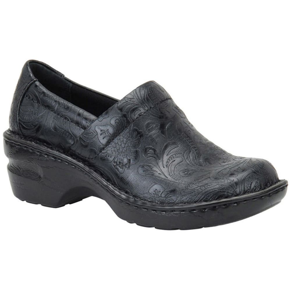 B.O.C. Women's Peggy Floral Tooled Clog - BLACK