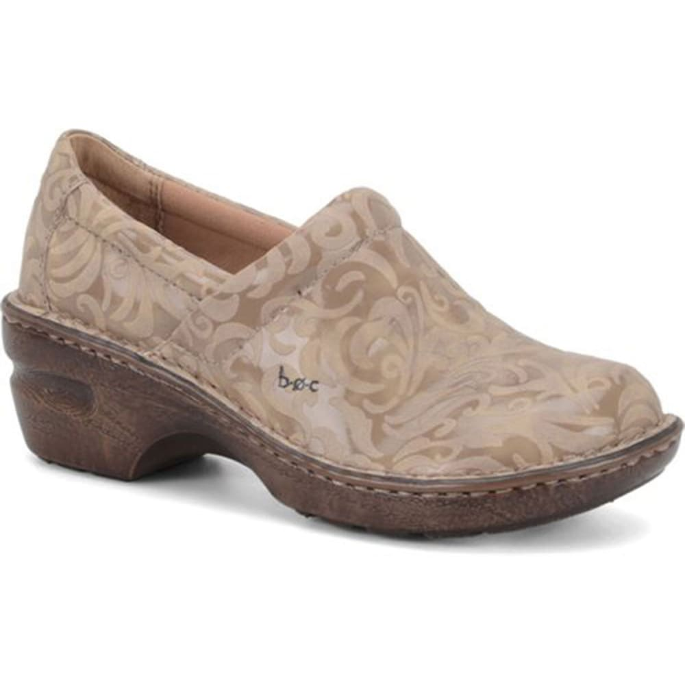 B.O.C. Women's Peggy Floral Tooled Clog - TAUPE