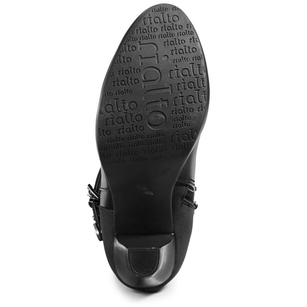 RIALTO Women's Pasedena Black Booties - BLACK