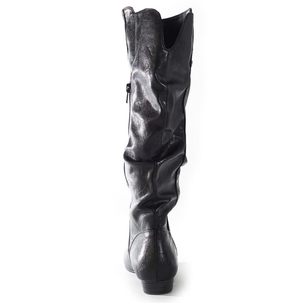 RIALTO Women's Frances Slouch Button Boot - BLACK