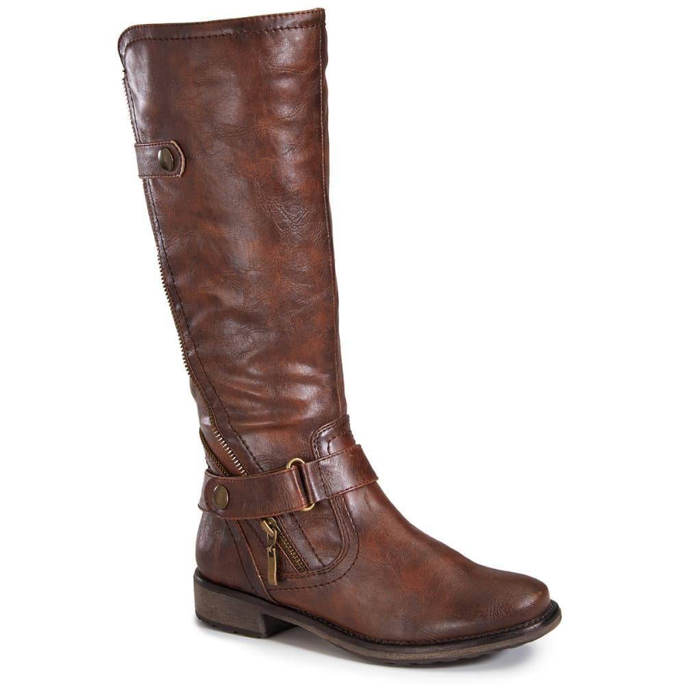 BARETRAPS Women's Shyla Riding Boots - BROWN