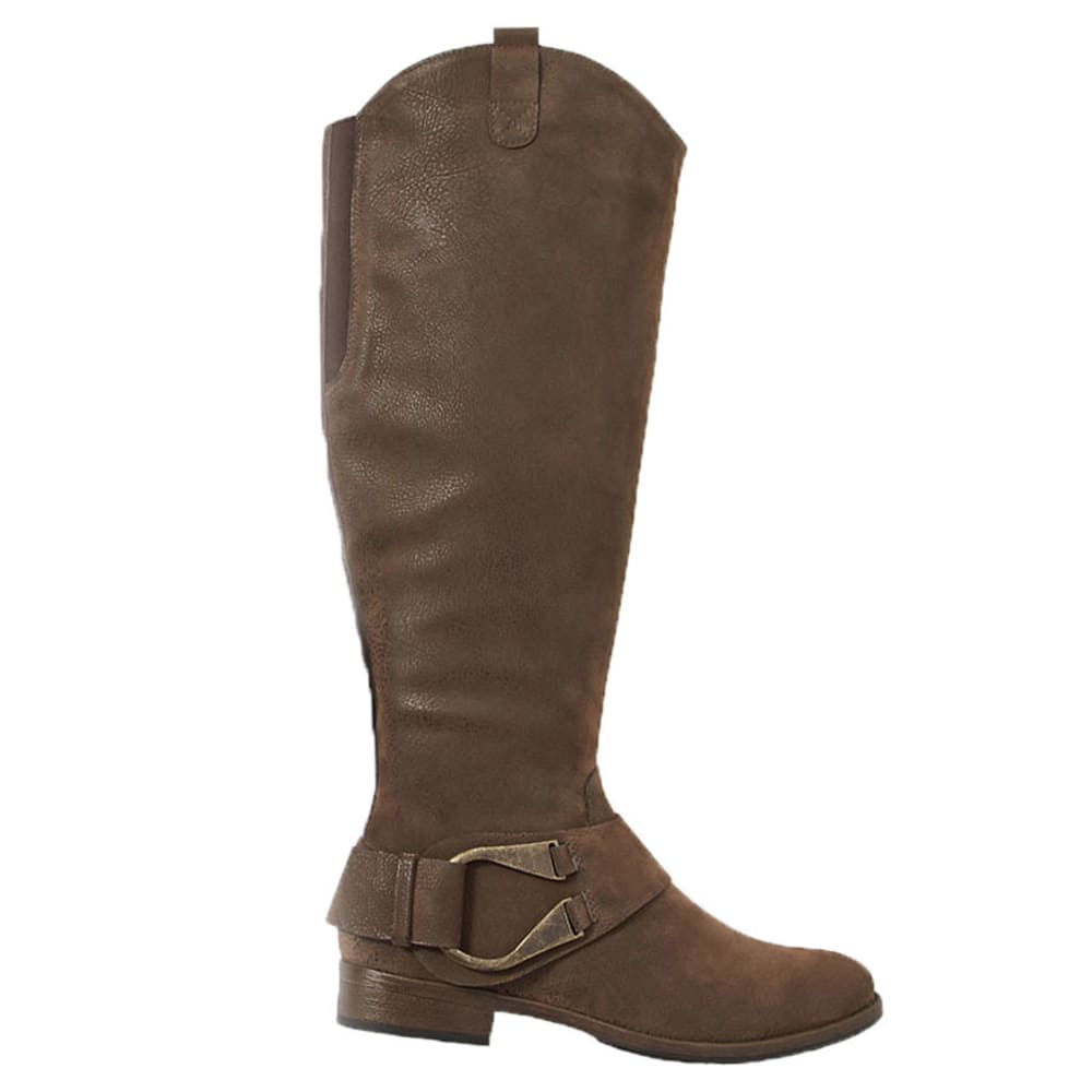 MADELINE Women's Bridie Riding Boots - BROWN