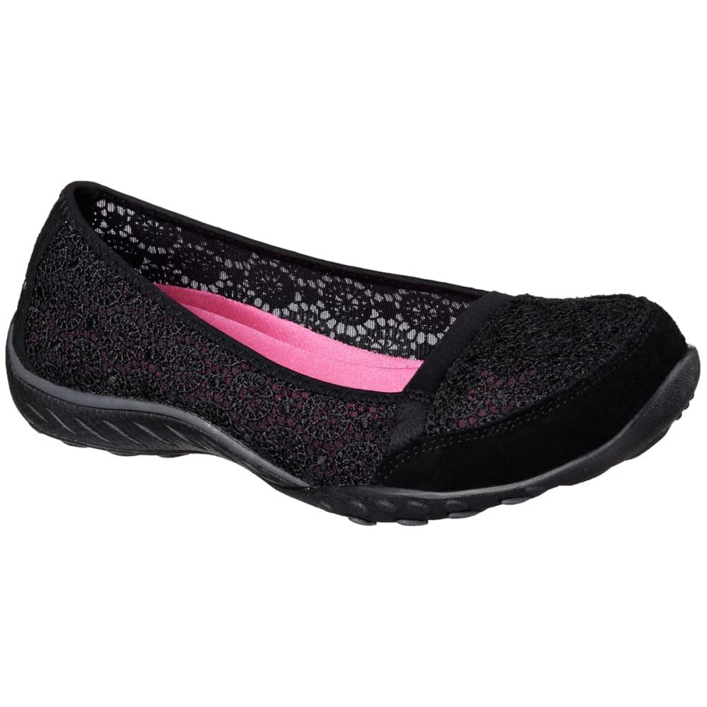 SKECHERS Women's Relaxed Fit: Breathe Easy – Pretty Factor Shoes - BLACK