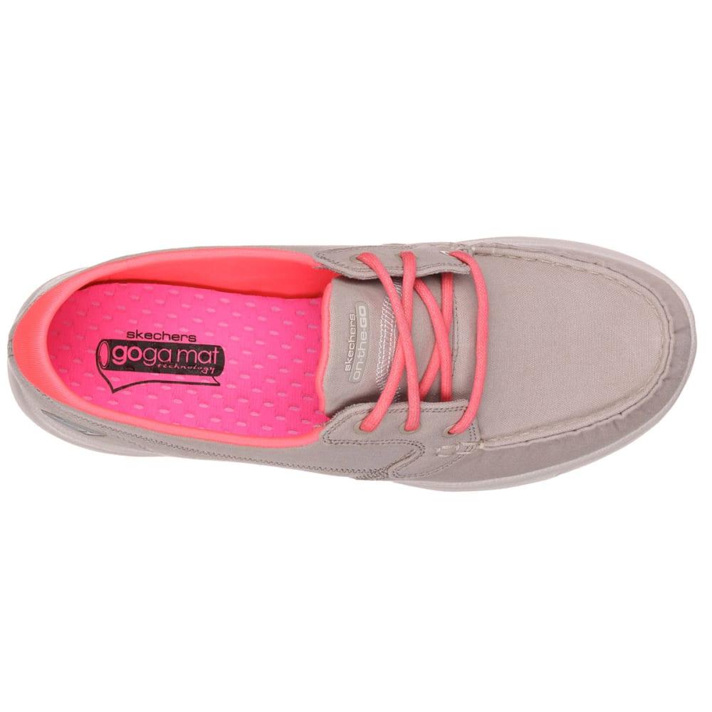 SKECHERS Women's Bob's On The Go Boat Shoes - STONE