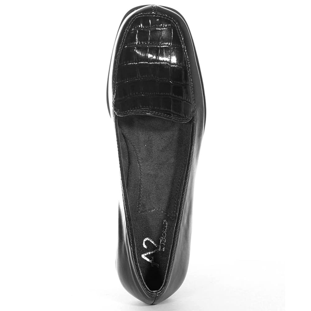A2 BY AEROSOLES Women's Tempting Crocco Loafers - BLACK