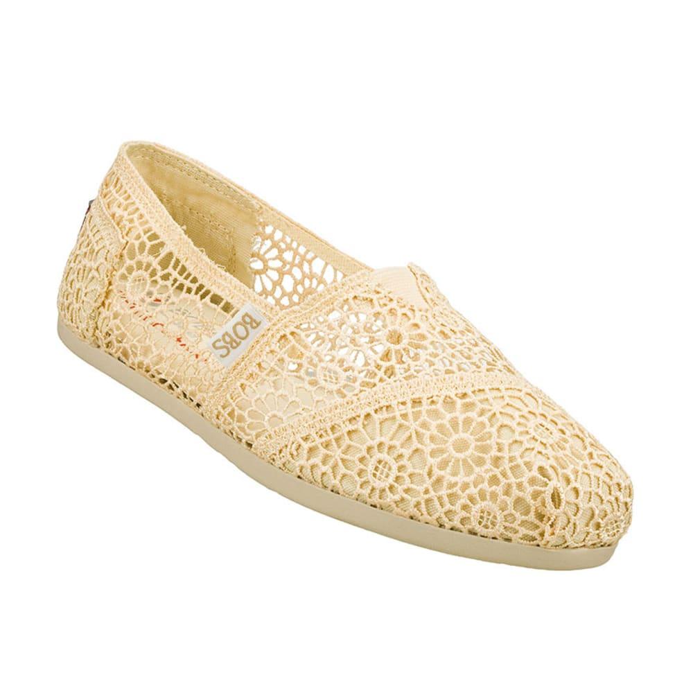 SKECHERS Women's Bobs Crochet Slip-on Shoes - NATURAL
