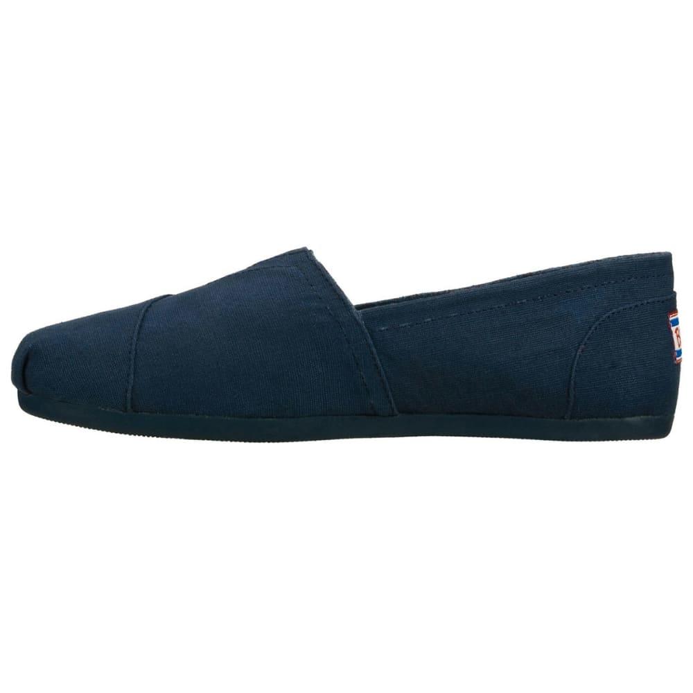 SKECHERS Women's Bobs Plush Canvas Shoes, Navy - HORIZON BLUE