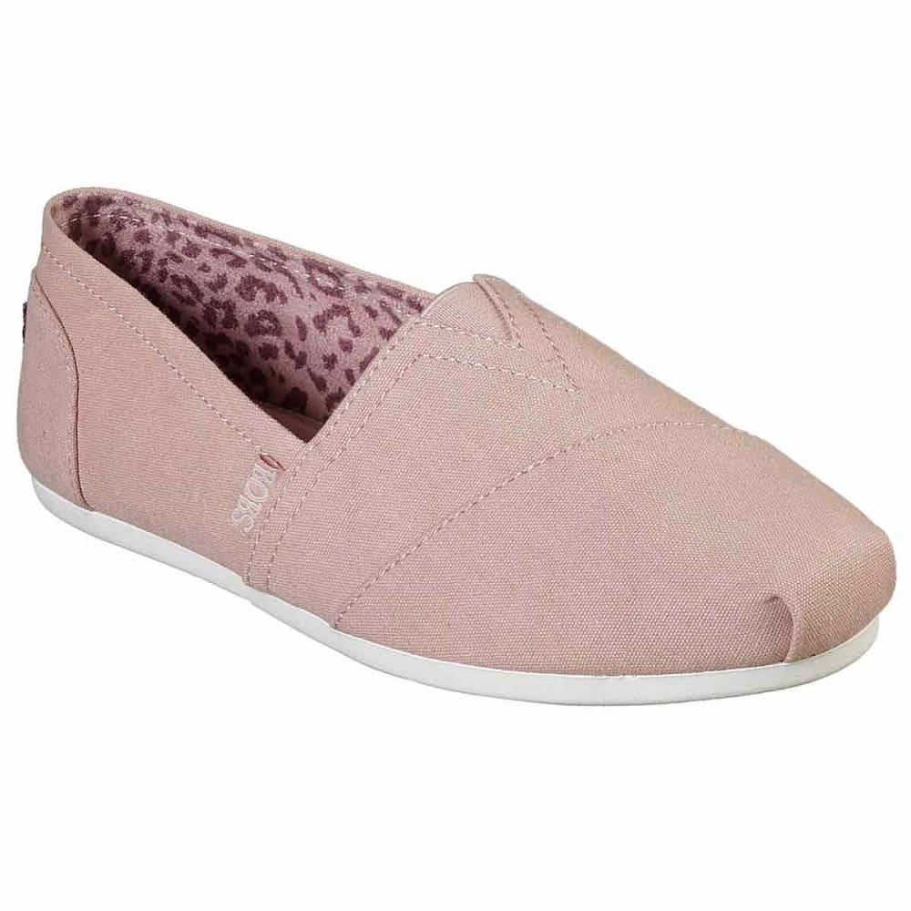 SKECHERS Women's BOBS Plush Canvas Slip-On Shoes - BLUSH-BLSH