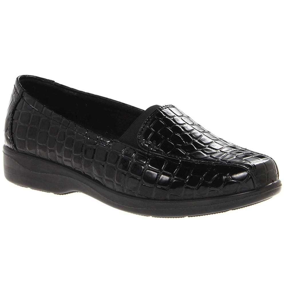 Easy Street Women's Gage Crocco Slip-On Casual Shoes - Black, 6.5