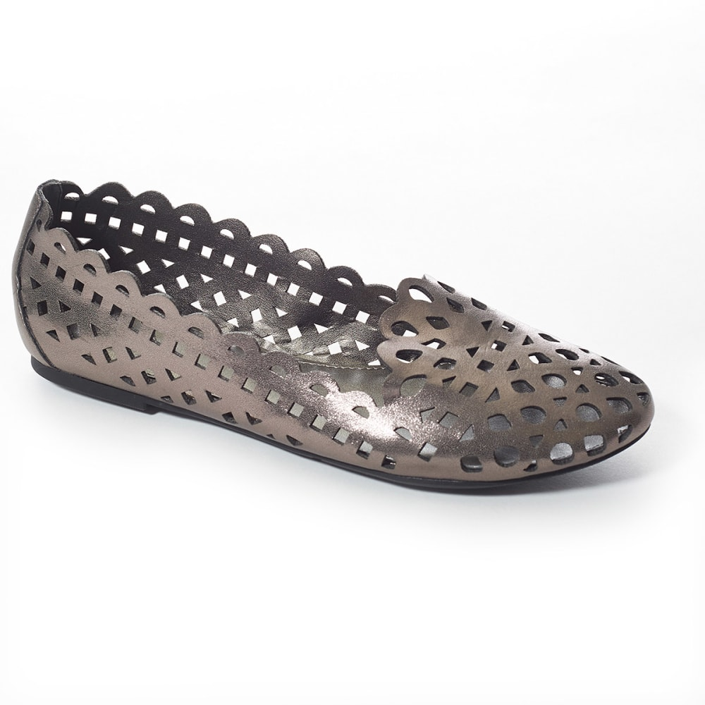 MADELINE Women's Cut-Out Flats - PEWTER