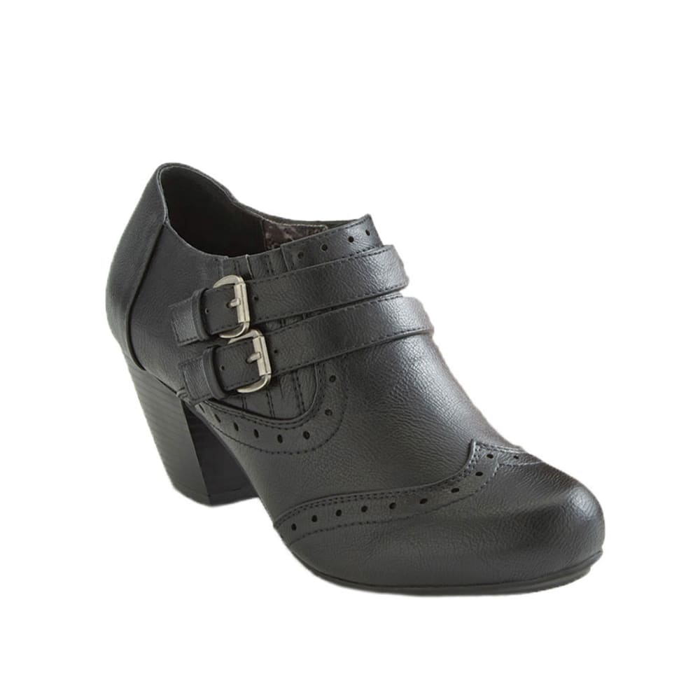 RIALTO Women's Cara Buckle Shooties - BLACK
