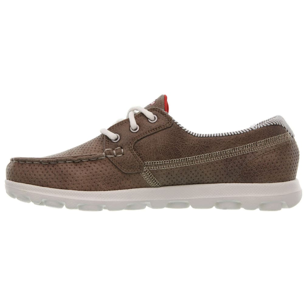 SKECHERS Women's On The Go-Cruise Boat Shoes - BROWN