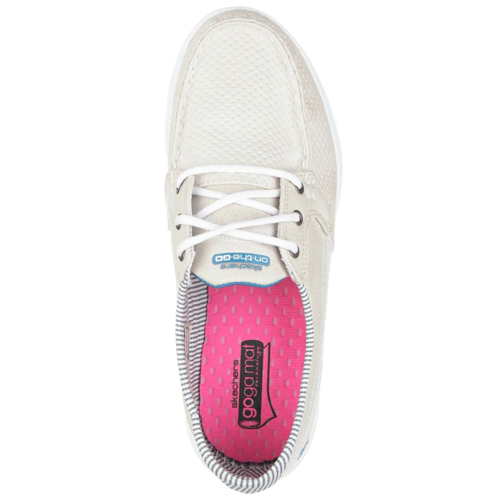 SKECHERS Women's On The Go-Cruise Boat Shoes - STONE