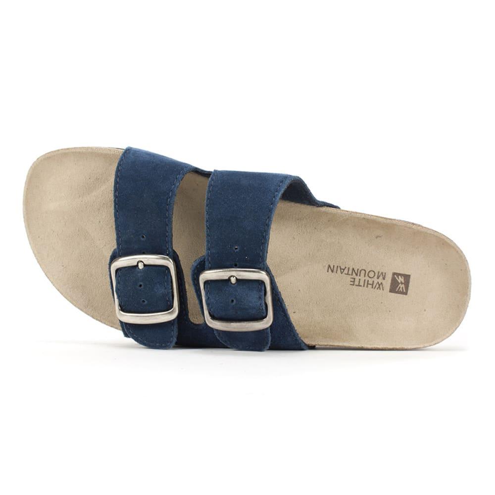 WHITE MOUNTAIN Women's Helga Double-Buckle Sandals - NAVY