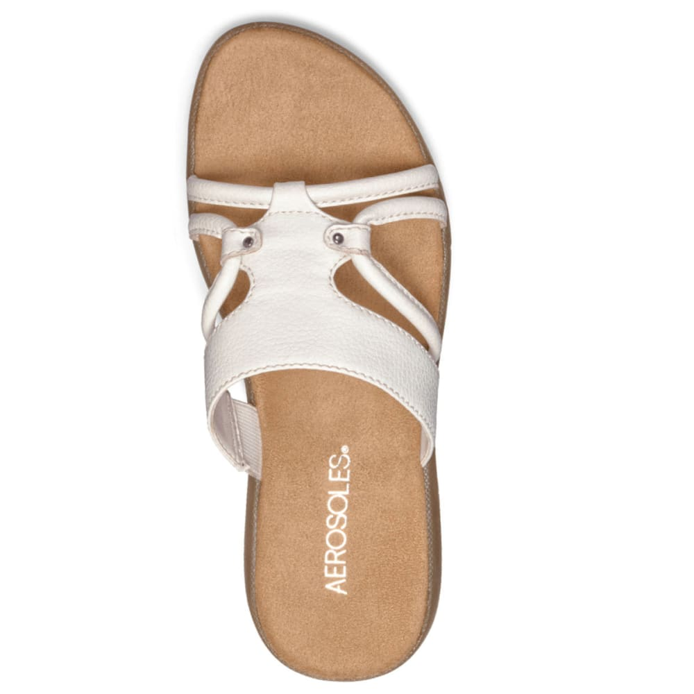 AEROSOLES Women's Wip Away Slide Sandals - BLOWOUT - WHITE