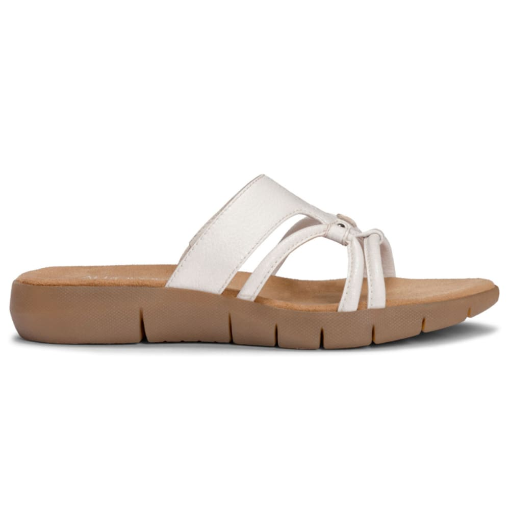 AEROSOLES Women's Wip Away Slide Sandals - BLOWOUT - WHITE