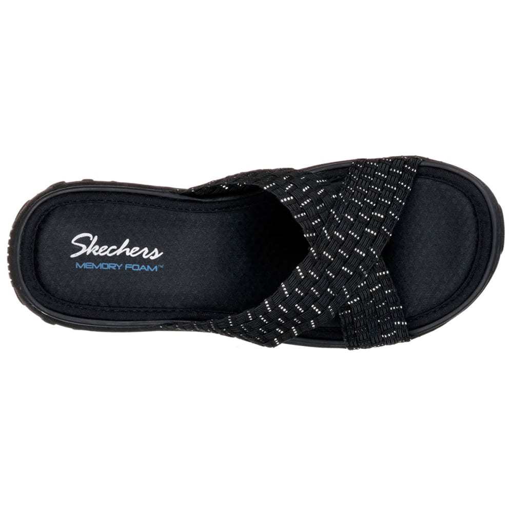 SKECHERS Women's Reggae-Rootsy Vibe Sandals - BLACK