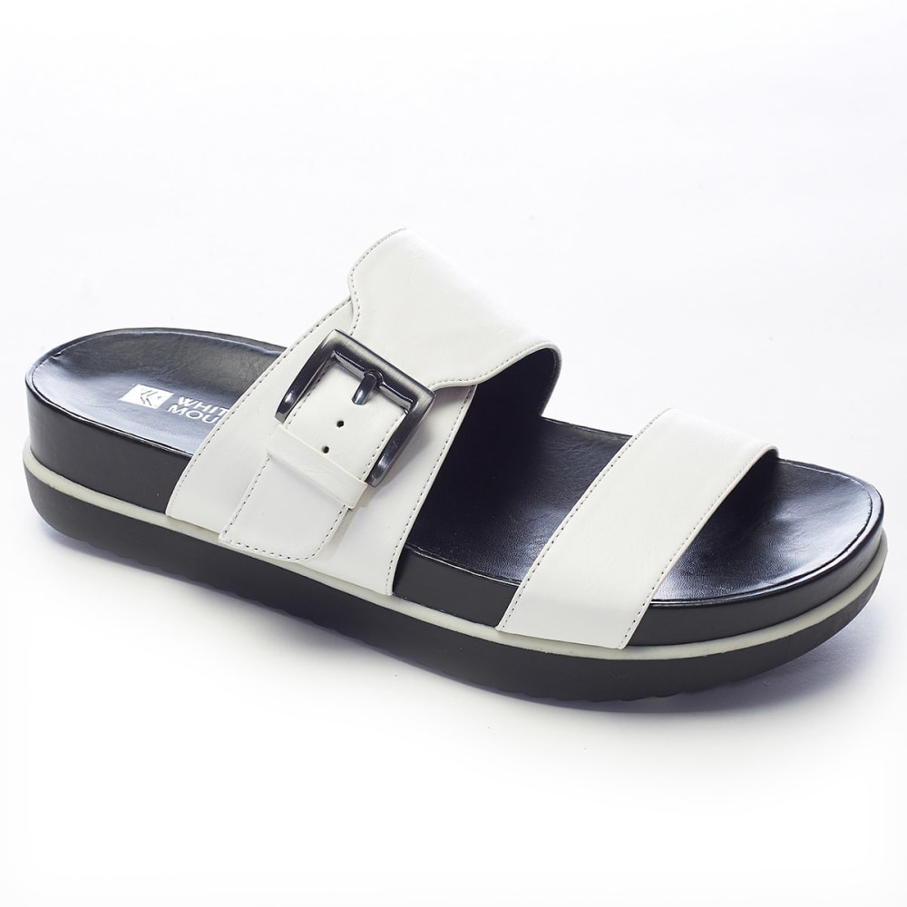 WHITE MOUNTAIN Women's Tough Guy Slides - WHITE