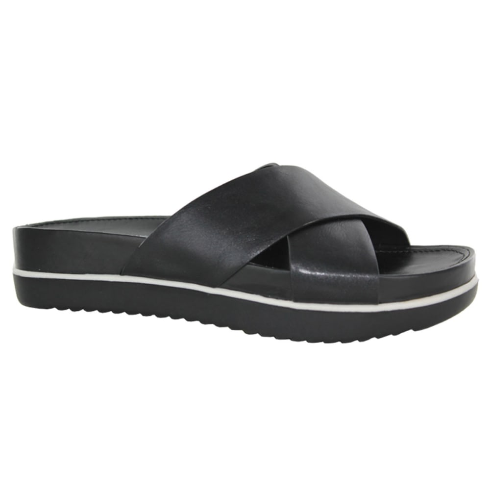 WHITE MOUNTAIN Women's Think Tank Slides - BLACK