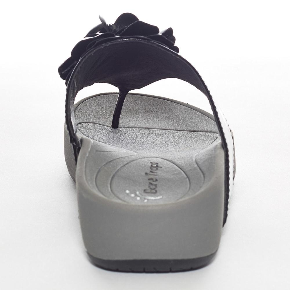 BARETRAPS Women's Bareflips Gigie Flower Thong - BLACK