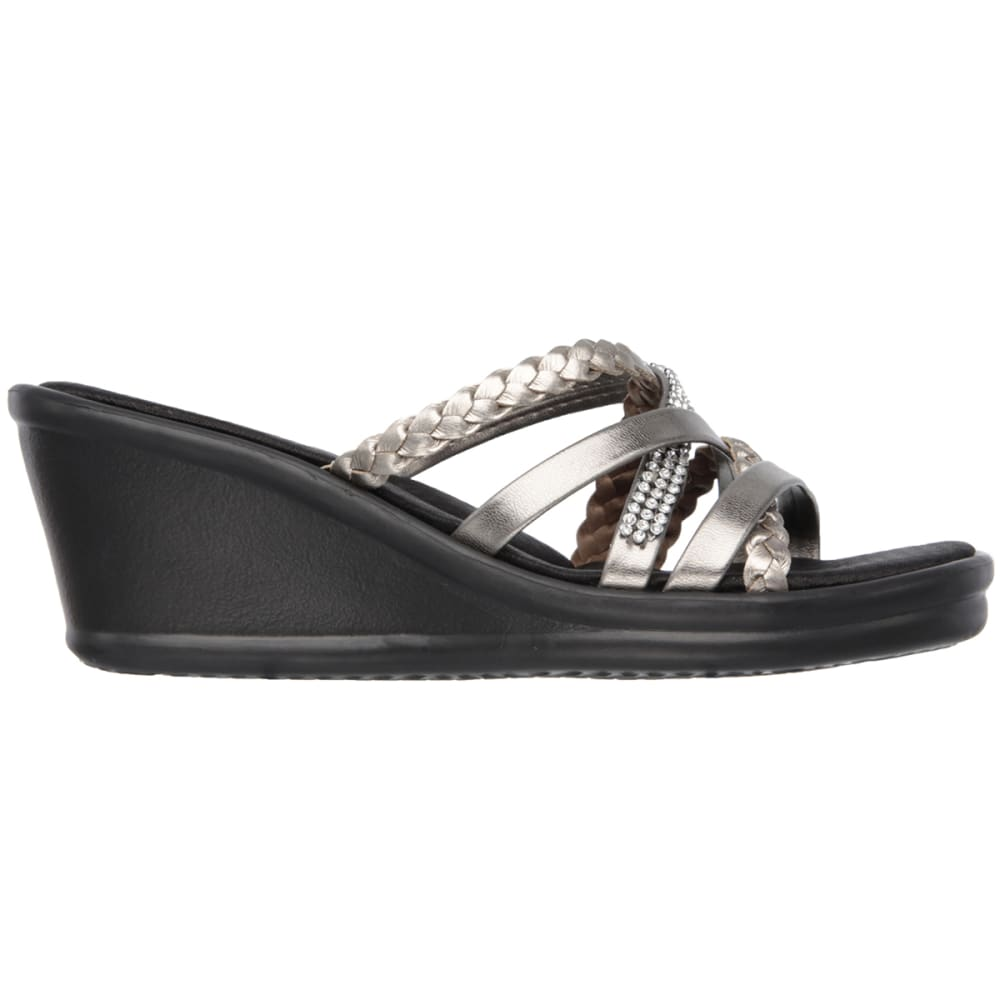 SKECHERS Women's Rumblers – Wild Child Wedge Sandals - PEWTER